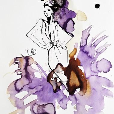 """Obraz na płótnie """"In purple"""""""