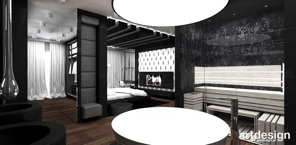 Garderoba, ARTDESIGN PERFORMANCE. Wnętrza domu (cz. 2) - salon kąpielowy z sauną