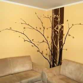 Malowane dekoracje ścienne