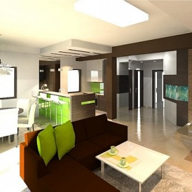 orangestudio_salon z kuchnią i jadalnią