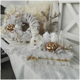 Wianek dekoracyjny w zimowym ubranku:))