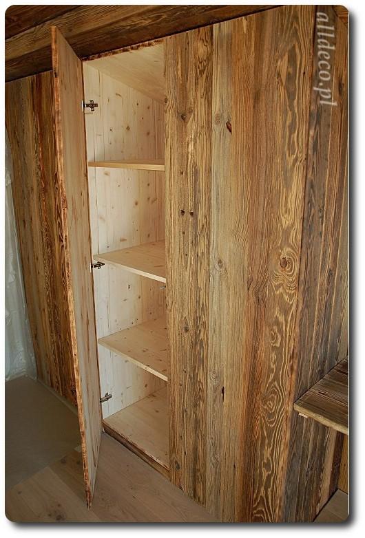Zdjęcie 13 W Aranżacji Szafy Wnękowe Ze Starego Drewna