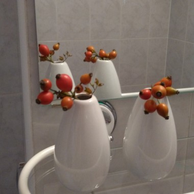 mały jesienny akcent w łazience...
