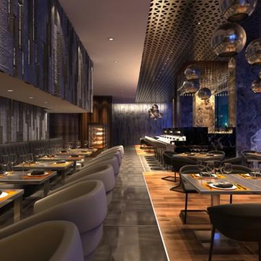 Stardust - projekt wnętrza restauracji