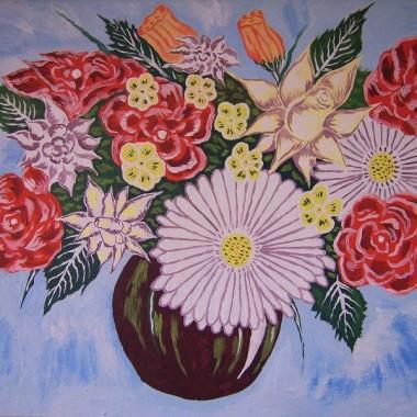 kwiaty mój obraz co sam malowałem