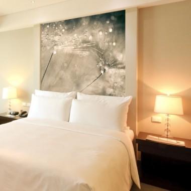 Fototapeta z dmuchawcami w odcieniu ciepłego beżu, doskonale ozdobi Twoją sypialnie bądź salon