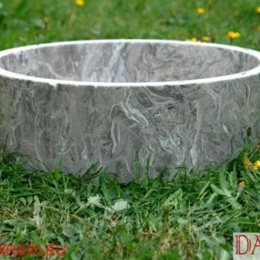 umywalki marmurowe, kamienna umywalki z szarego marmuru