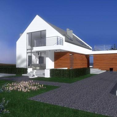 Projekt wnętrz nowoczesnego domu z Bydgoszczy