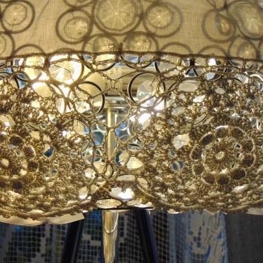 .............i moja lampa koronkowa...........