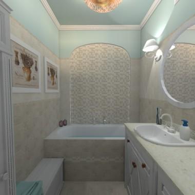 Projekt małej łazienki + toaleta