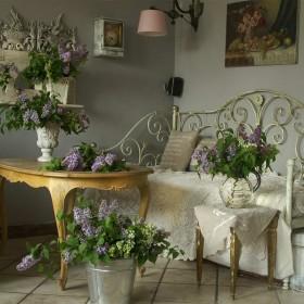 Pokój dzienny - wiosna i pachnące bzy!