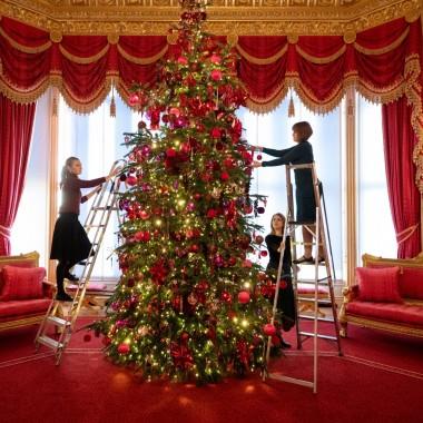 Świąteczne dekoracje w zamku Windsor
