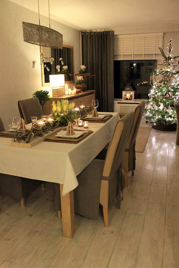 Salon, Salon-aranżacje świąteczne - Tak prezentuje sie salon,po wejsciu z korytarza
