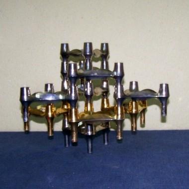 caesar stoffi fritz nagel system  świeczników z lat 60 space era