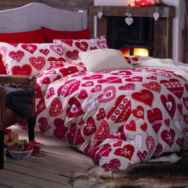 Angielska pościel Catherine Lansfield - Romantyczne serca