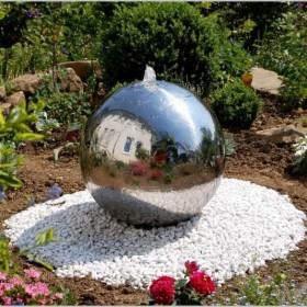 fontanna dekoracyjna do ogrodu ( stainless balls )