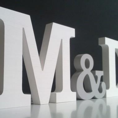 Drewniane litery/inicjały