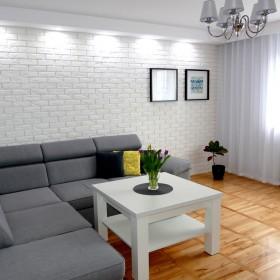 Salon - szarość i biel, czyli minimalizm.