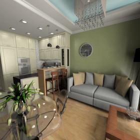 Projekt mieszkania w stylu nowoczesnej klasyki