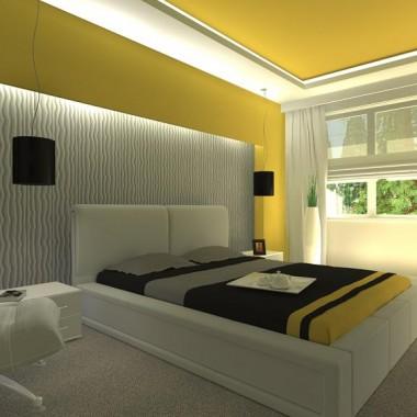 Sypialnia w róznych odsłonach kolorystycznych
