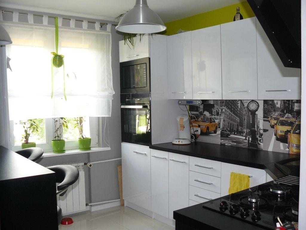 Zdjęcie 24 W Aranżacji Biało Czarna Kuchnia Z Nutką Zieleni