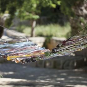 Szklane dekoracje ogrodu Mdina Glass.