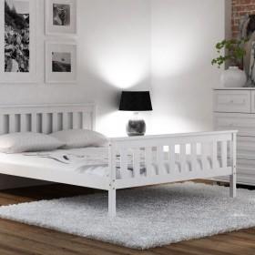 Minimalistyczne łóżka z drewna (Meble Magnat)