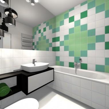 Morska łazienka z motywem ornamentalnym