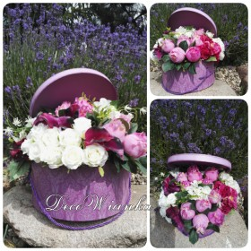 Flower box,kompozycje kwiatowe.