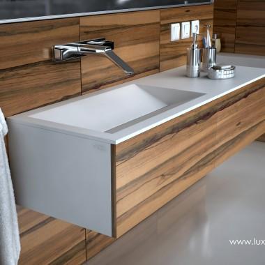 Umywalki nowoczesne z szafkami na wymiar - Corian, Staron
