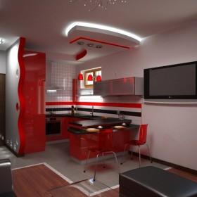 Aranżacja jadalni, salonu i kuchni