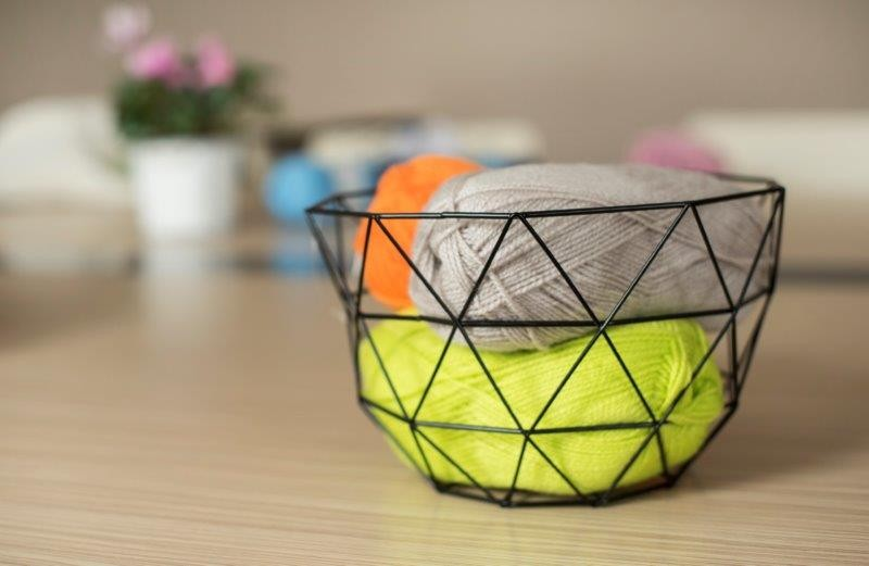 Pozostałe, Wielofunkcyjne koszyki KOBE  z Galicji - Koszyk metalowy Kobe do przechowywania, dekoracyjny