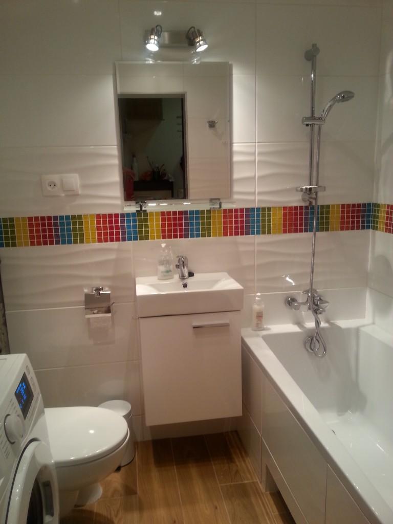 Mała łazienka Z Tęczą 3m2 Deccoriapl