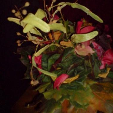 bukiety  jesienne z liści