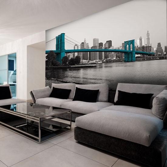 Pozostałe, Dekoracje z Nowym Jorkiem - Most brookliński w kolorze - ta dekoracja sprawdzi się w nowoczesnych wnętrzach.