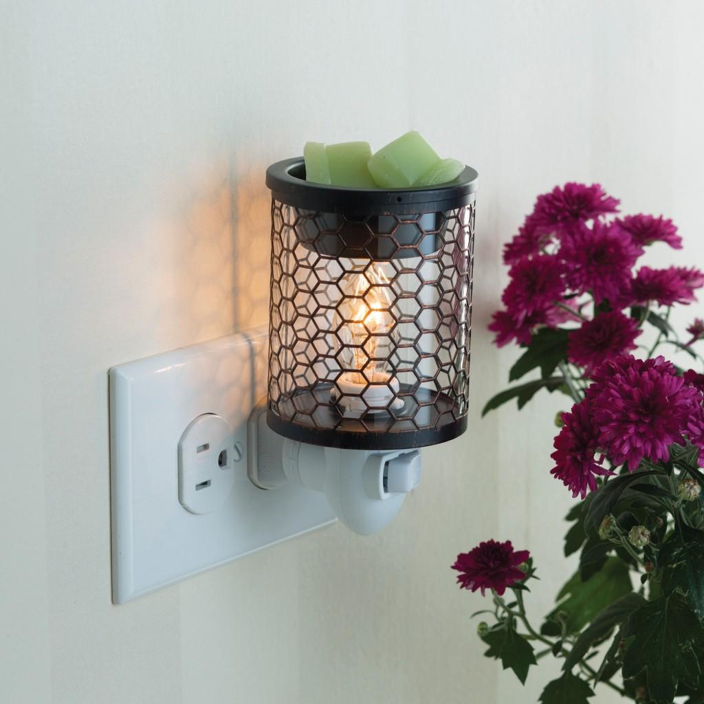 Dekoracje, Kominki elektryczne plug-in (nowość) - Kominek Candle Warmers  CHICKEN WIRE