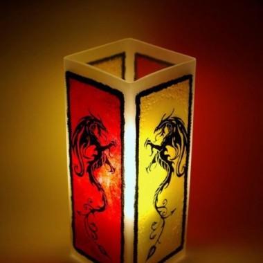 Unikatowe, ręcznie zdobione, szklane lampy