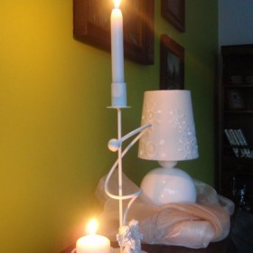 Wieczór przy świecach....
