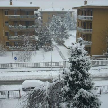 Sniegowa sytuacja w Mediolanie.