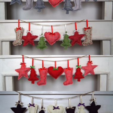 szyte dekoracje świąteczne2013