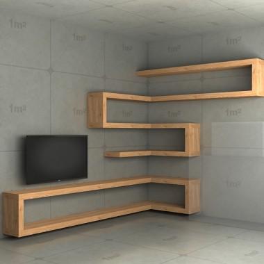 Półki do salonu - ścianka telewizyjna