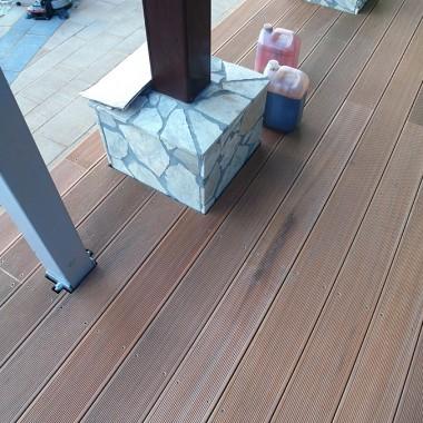 Taras drewniany wykonany w Bogatyni