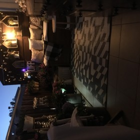 Majowy wieczór na balkonie
