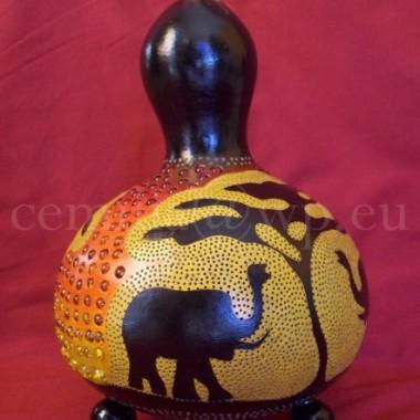 Stjąca lampa z tykwy - Tykwa - Rękodzieło