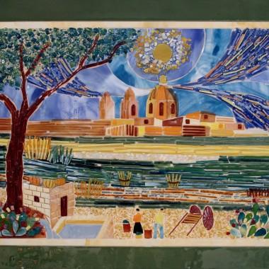 Zdobione maltańskei zegary, obrazy i talerze Mdina Glass
