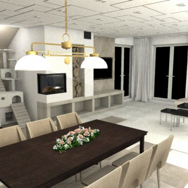 Dom w Markach - Salon opcja 2