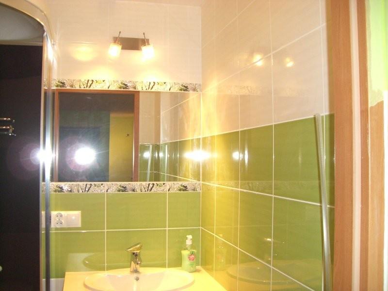 Zielono Biała łazienka Deccoriapl