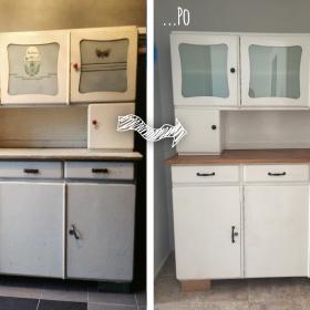 Kredens kuchenny przed i po