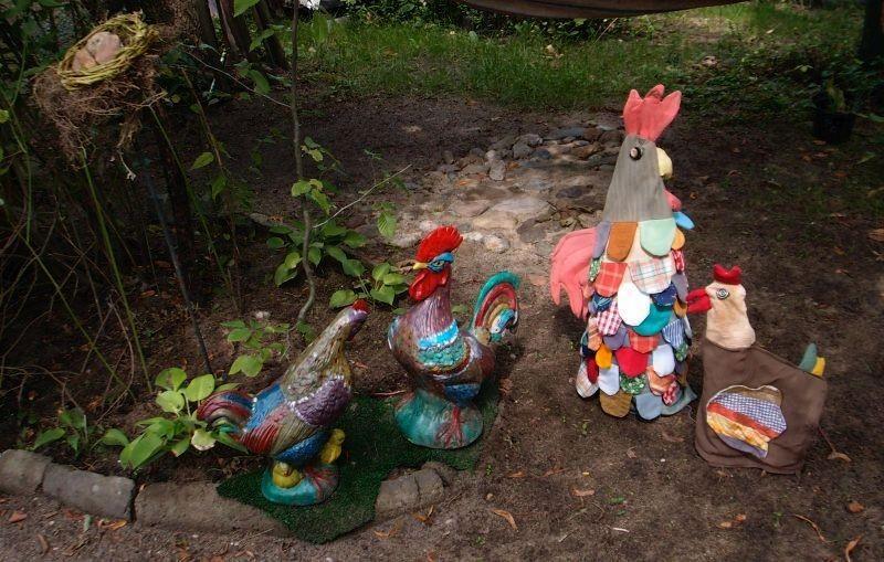 Ogród, Nieśmiała jeszcze jesień - drób jeszcze  na wybiegu