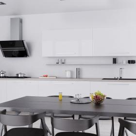 Modernistyczna, biała kuchnia